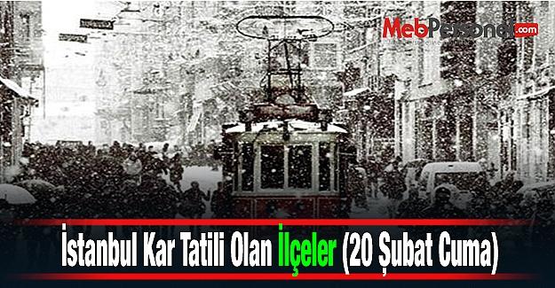 İstanbul Kar Tatili Olan İlçeler (20 Şubat Cuma)