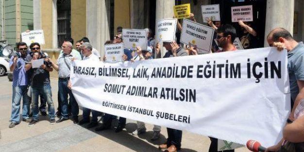 İstanbul MEM'de karne öncesi protesto