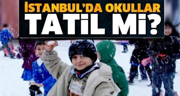İstanbul'da Yarın (Perşembe) Okullar Tatil Mi? Validen açıklama