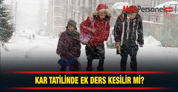 Kar Tatili  Ek Ders Ödenir Mi?