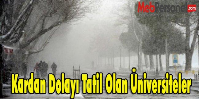 Kardan Dolayı Tatil Olan Üniversiteler-3