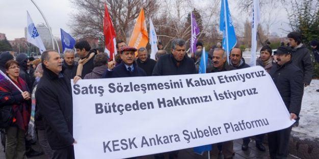KESK'ten Meclis önünde bütçe eylemi