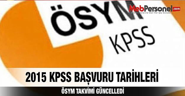 KPSS başvuru tarihleri açıklandı