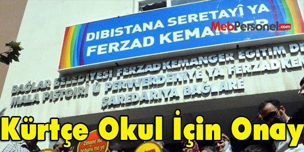 Kürtçe Okul İçin Onay