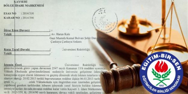 Mahkeme: Geliştirme Ödeneği Süresiz Görevlendirme Yapılan Yere Göre Ödenir ...