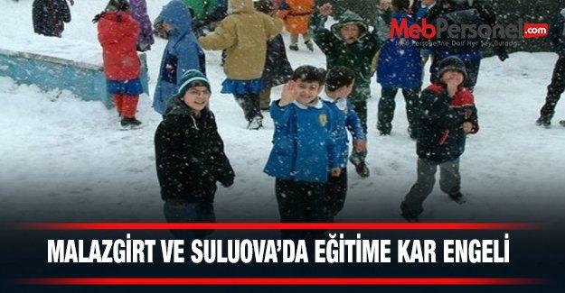 Malazgirt ve Karlıova'da eğitime kar engeli