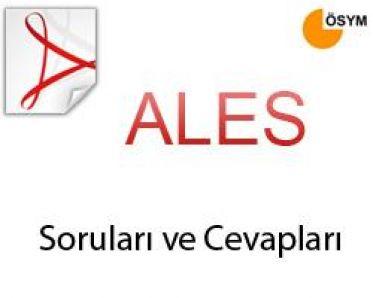 Mayıs 2013 ALES  Sınav Soruları ve Cevapları açıklandı
