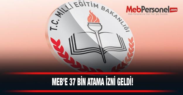 MEB'e 37 Bin Atama İzni Geldi