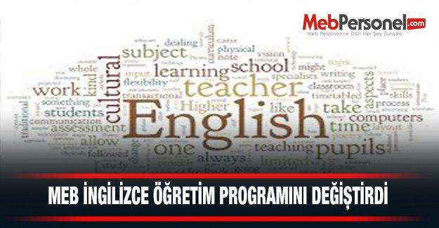 MEB, İngilizce Öğretim Programını Değiştiriyor