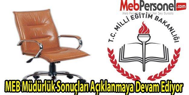 MEB Müdürlük Sonuçları Güncel (78 İl)