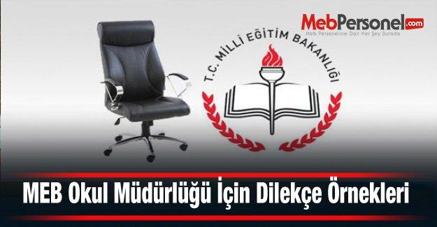 MEB Okul Müdürlüğü İçin Dilekçe Örnekleri