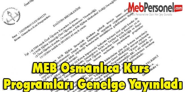 MEB Osmanlıca Kurs Programları Genelge Yayınladı