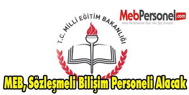 MEB, Sözleşmeli Bilişim Personeli Alacak