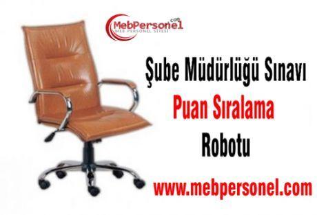 Meb Şube Müdürlüğü Mülakat Puan Sıralama Robotu