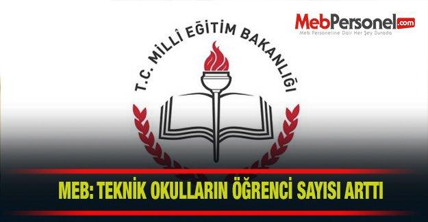 MEB: Teknik okullara giden öğrenci sayısı arttı