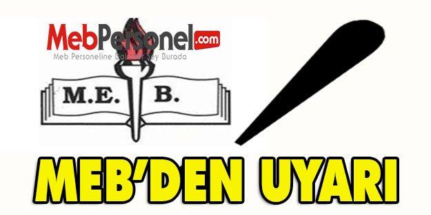 MEB UYARDI!