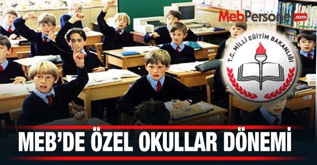 MEB'de Özel Okullar Dönemi