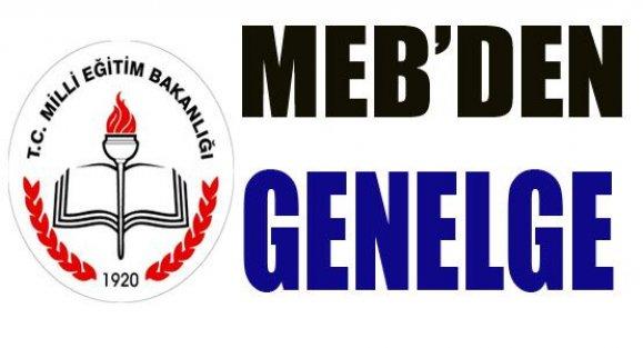 MEB'DEN 2014/21 SAYILI GENELGE