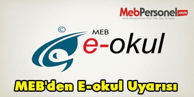 MEB'den E-okul Uyarısı