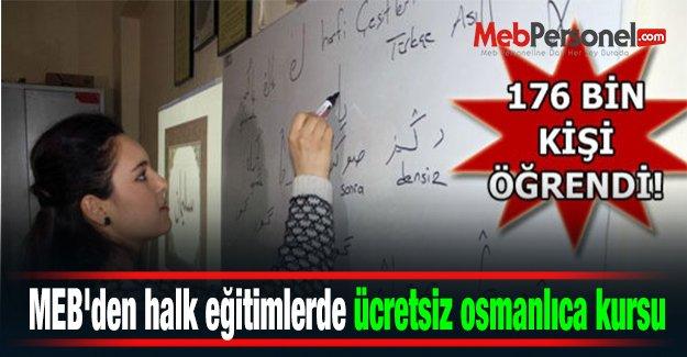 MEB'den halk eğitimlerde ücretsiz osmanlıca kursu