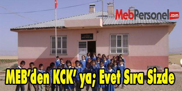 MEB'den KCK' ya; Evet Sıra Sizde