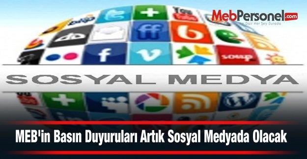 MEB'in Basın Duyuruları Artık Sosyal Medyada Olacak