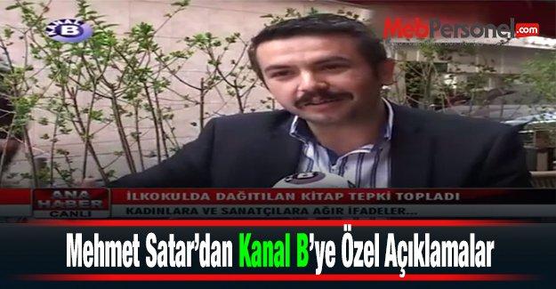Mehmet Satar, Esenler'de dağıtılan kitapla ilgili Kanal B'ye açıklamalarda bulundu - VİDEO