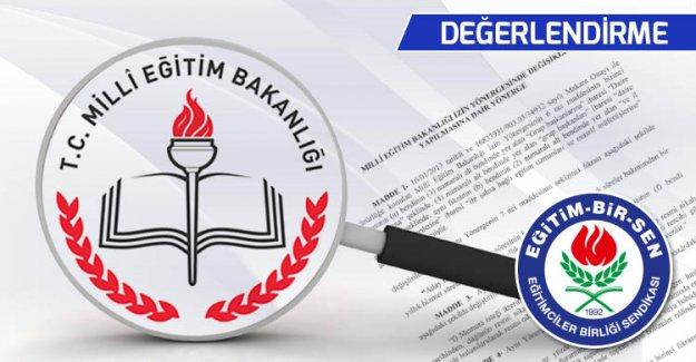 Milli Eğitim Bakanlığı İzin Yönergesi Değişikliğine İlişkin Değerlendirme