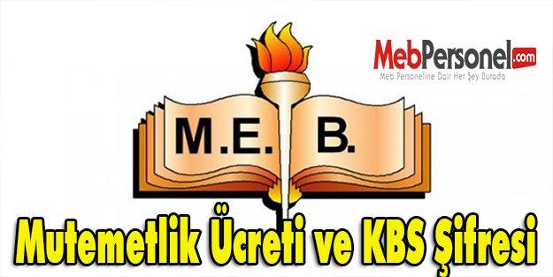 Mutemetlik Ücreti ve KBS Şifresi