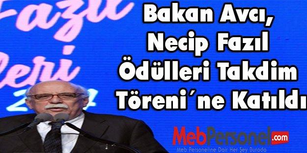 Nabi  Avcı, Necip Fazıl Ödülleri Takdim Töreni'ne Katıldı
