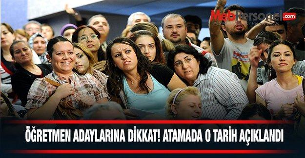 Öğretmen adayları dikkat! Atamada o tarih açıklandı!