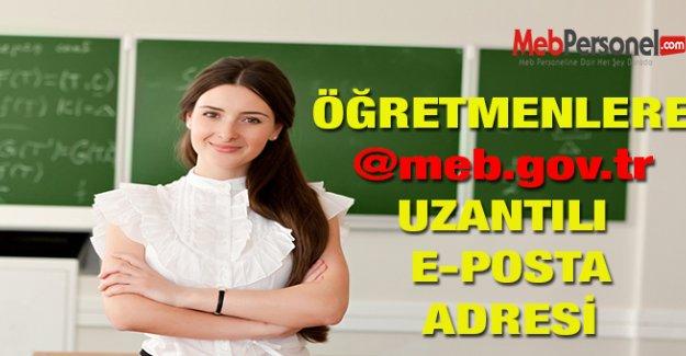 Öğretmenlere meb.gov.tr Uzantılı E Posta