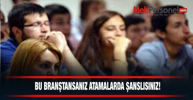 """Öğretmenlikte """"Şanslı"""" Branşlar"""