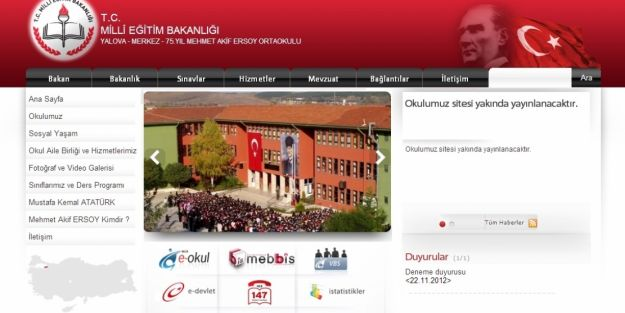 Okul Web Siteleri Degişiyor