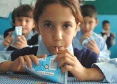 Okullarda süt dağıtım çalışması başladı