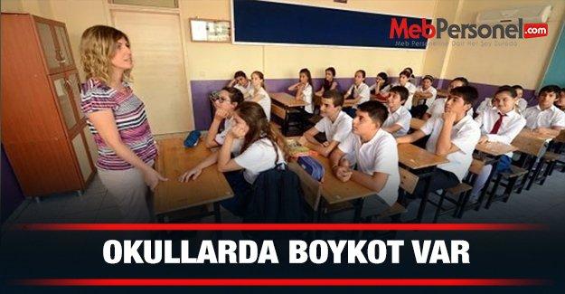 Okullarda 'boykot' var!