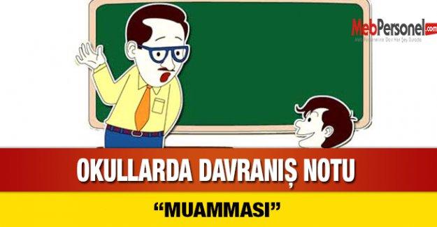 Okullarda 'Davranış Notu' Muamması