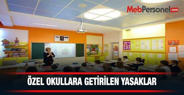Özel Okullara Artık Bunlar Yasak
