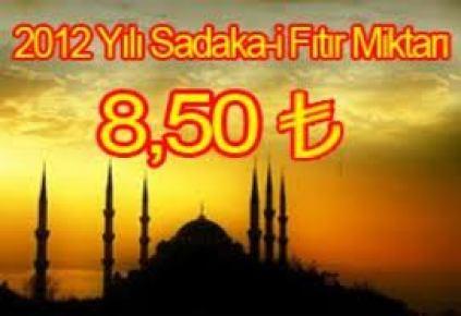 Sadaka-ı Fıtır miktarı 8.50 TL olarak belirlendi