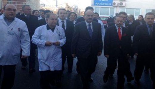 Sağlık Bakanı'ndan doktor dövülen hastaneye ziyaret