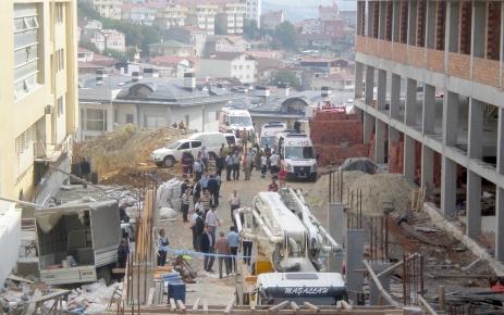 Sarıyer'de okul inşaatı çöktü: 2 ölü