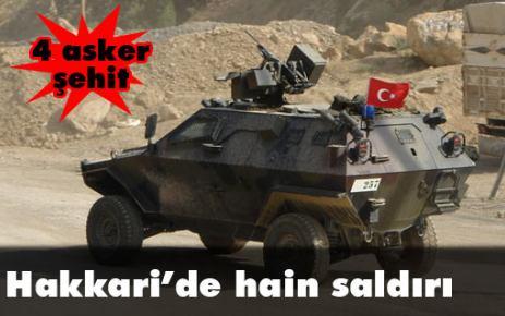 Şemdinli'de çatışma: 4 asker şehit, 2 asker yaralı