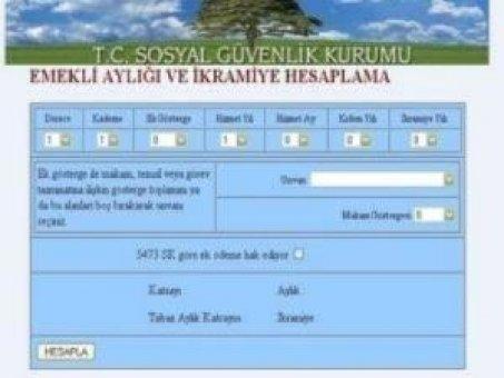 SGK'nın emekli maaşı hesaplama programı çalışmıyor