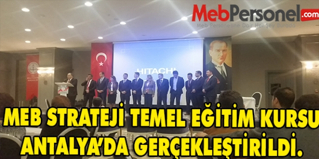 Stratejik Planlama Temel Eğitim Kursu 22-26 Aralık Tarihlerinde Antalya'da Gerçekleştirildi.