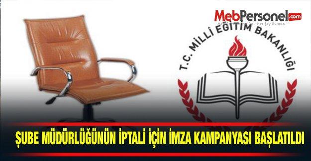 Şube Müdürlüğü Mağdurları İmza Kampanyası Başlattı