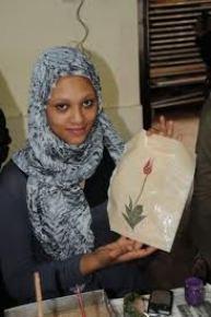 Sudanlı öğrenciler ebru sanatını öğrendi