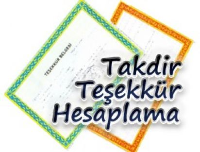 Takdir Teşekkür Hesaplama 2013-2014 MEB