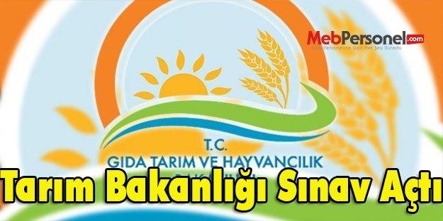 Tarım Bakanlığı Sınav Açtı