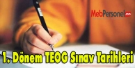 1. Dönem TEOG Sınav Tarihleri