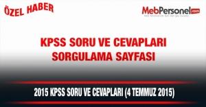 2015 KPSS Soruları ( Türkçe - Matematik-Tarih- Coğrafya)